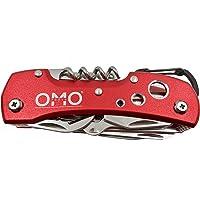 OMO - Objets Malins Online - Couteau Suisse Multifonctions Acier Inoxydable 13 en 1 - Rouge