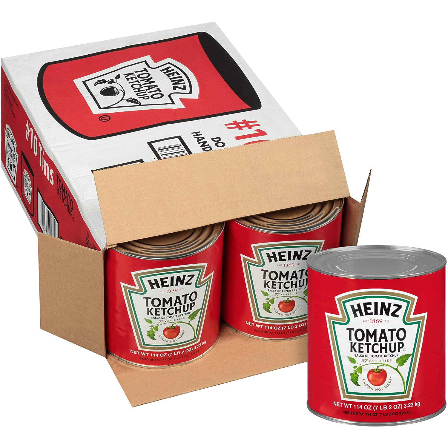 Heinz Ketchup #10 Can (114 oz Cans, Pack of 6)