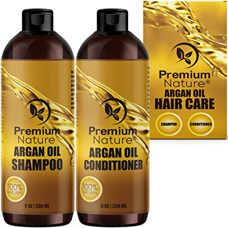 Premium Nature Argan Oil Shampoo and Conditioner