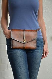 Sviper Genuine Leather Bulk Capacity Waist Bag Crossbody Fanny Pack Organizer