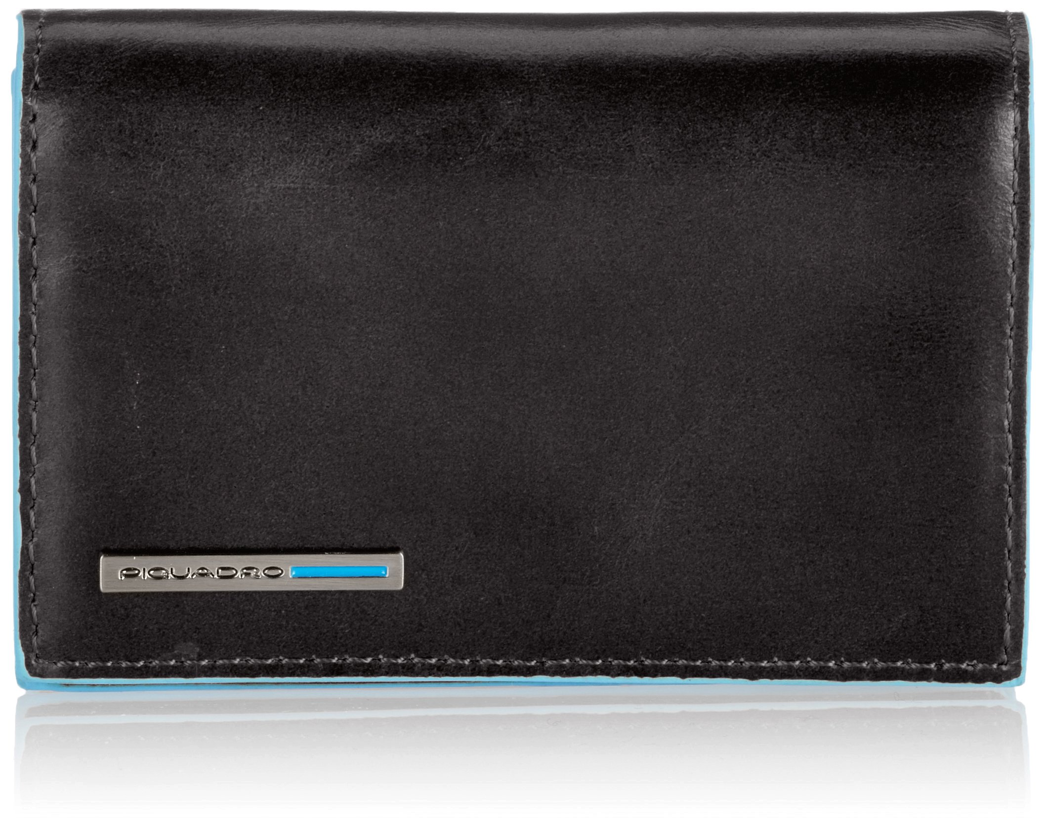 Piquadro Business Card Holder, Black, One Size