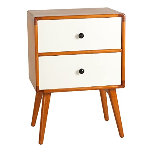 Porthos Home Tristan Mid-Century Modern Side Table, White