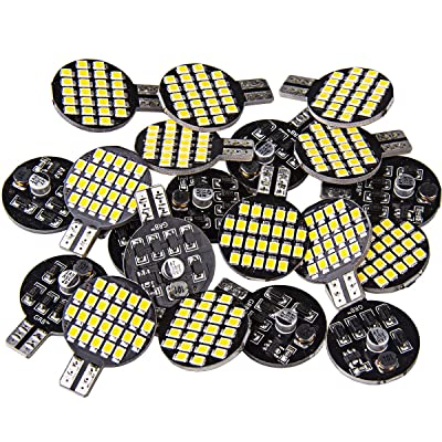 20x Super Bright 921 194 T10 LED Bulb, Warm White 12V 24-SMD Wedge Lamp For Iandscaping Boat RV Trailer Camper Motorhome Ceiling Dome Interior Lights (Pack of 20): Automotive