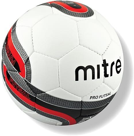 Mitre Pro Futsal - Balón de fútbol, color blanco, aprobado por la ...