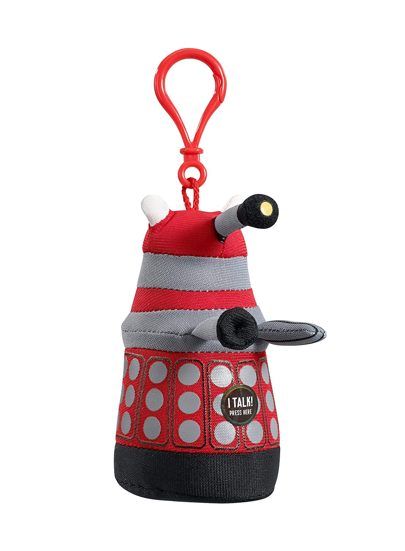 Doctor Who Underground Toys Peluche Dalek (Llavero con Voz y Sonido, en inglés), Color Rojo