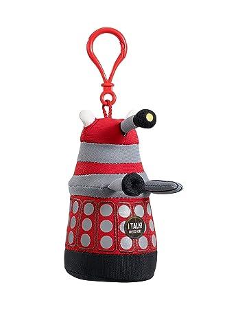 Underground Toys Doctor Who - Peluche Dalek (llavero con voz y sonido, en inglés), color rojo