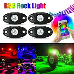 picture of AMBOTHER 4Pcs Car RGB LED Rock Underglow Lights