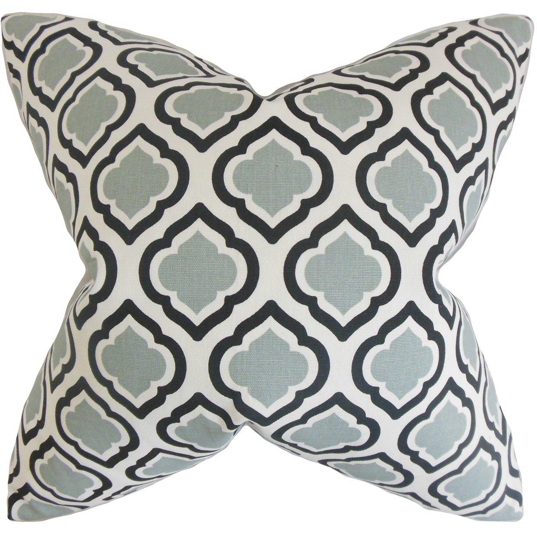 The枕コレクションp20-pp-curtis-coolgrey-c100 Abijah幾何枕、グレー、20