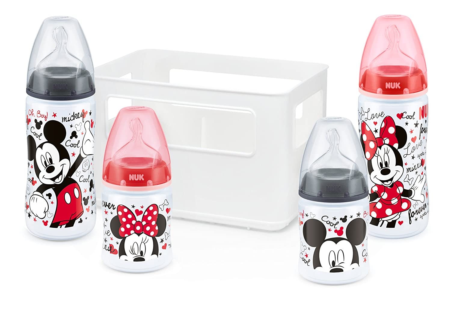 Nuk - Kit de biberones Mickey and Minnie First Choice (10225103)