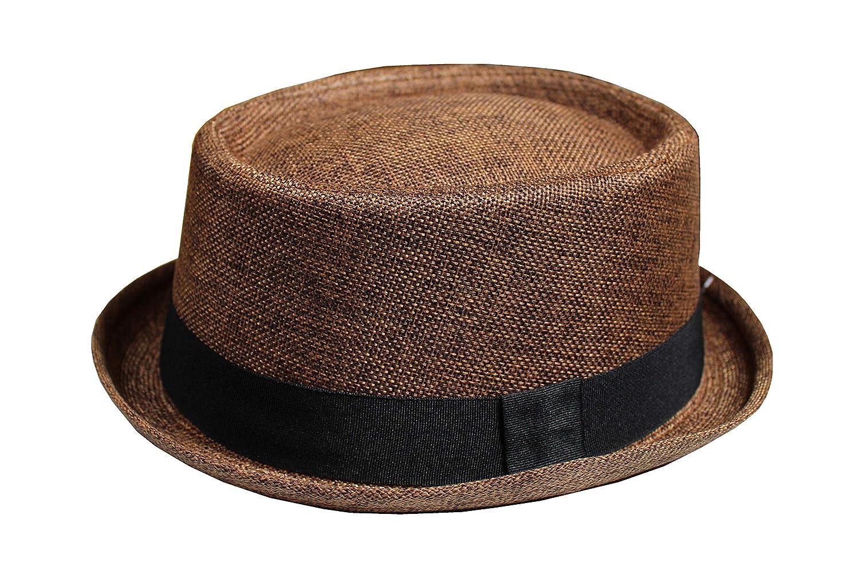 Motiv Schweinekuchen Buckingham Boutique Herren Hut aus Sackleinen Fedora in vielen Farben erh/ältlich