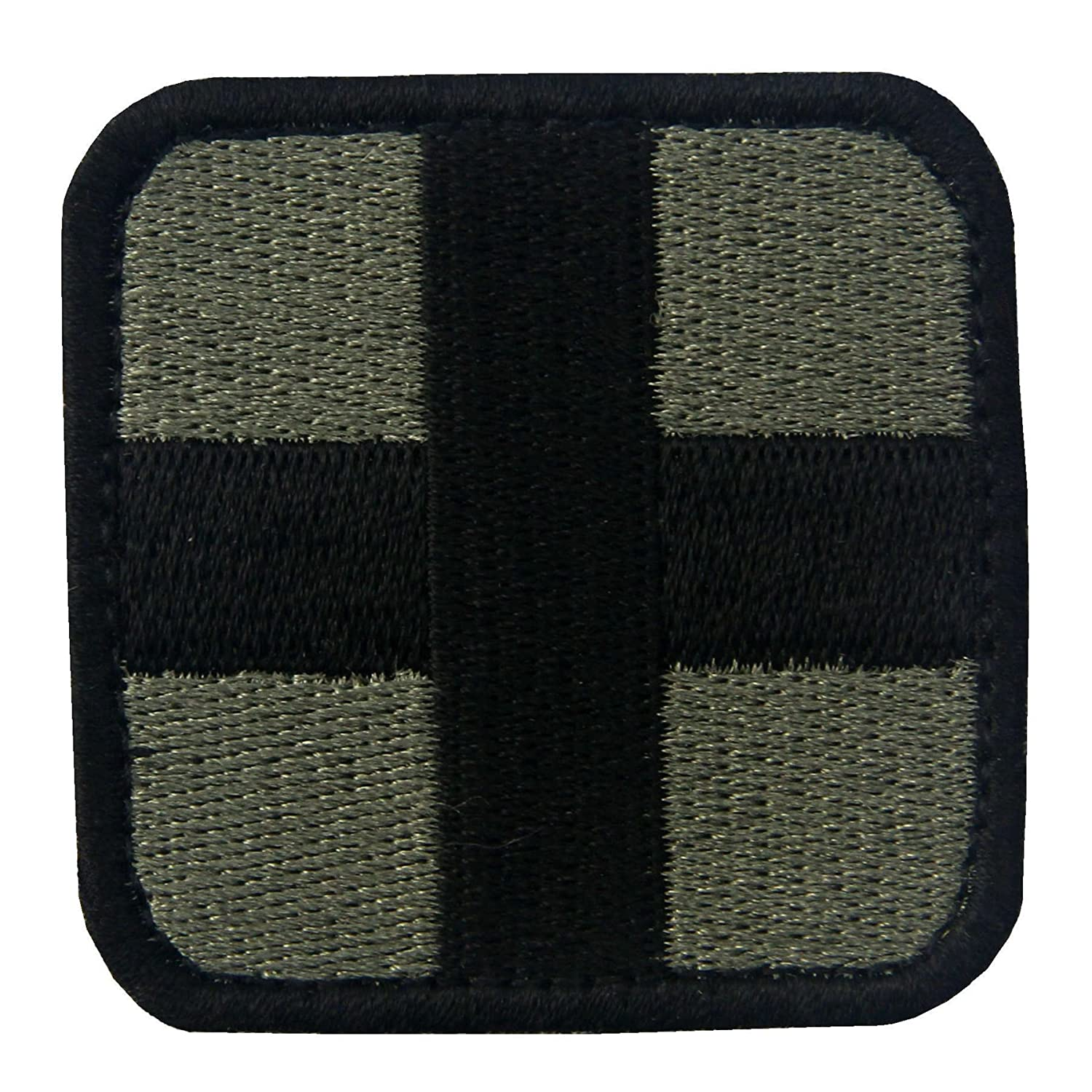 Darkgoldenrod EmbTao Embroidered Medic Cross Tactical Fastener Hook /& Loop Patch