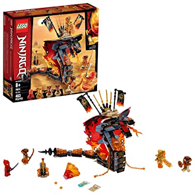 LEGO NINJAGO Fire Fang 70674 Snake Action Toy Building Set with Stud Shooters and Ninja Minifigures Characters, Perfect for Group Play (463 Pieces): Toys & Games