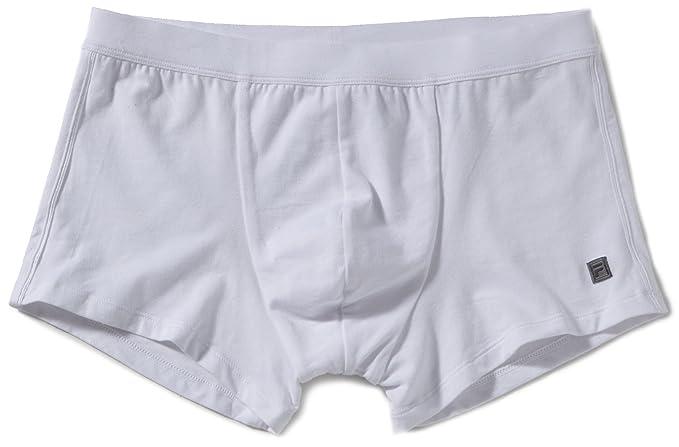 Fila - Calzoncillo boxer de manga corta para hombre, talla 46, color Blanco 003