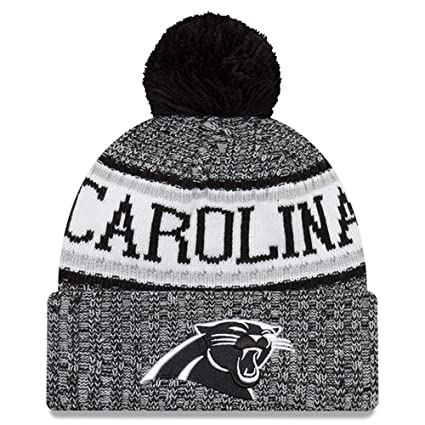 Amazon.com   New Era Knit Carolina Panthers Black On Field Sideline ... 182e7c75e1d