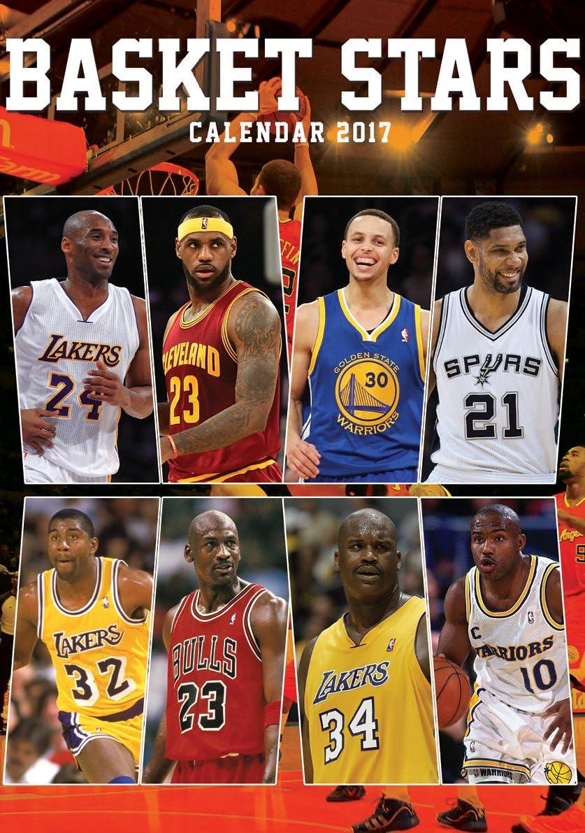 North Star Basket (American Best) Calendario 2017, Carta, Multicolore, 420.0X297.0X0.5 Cm