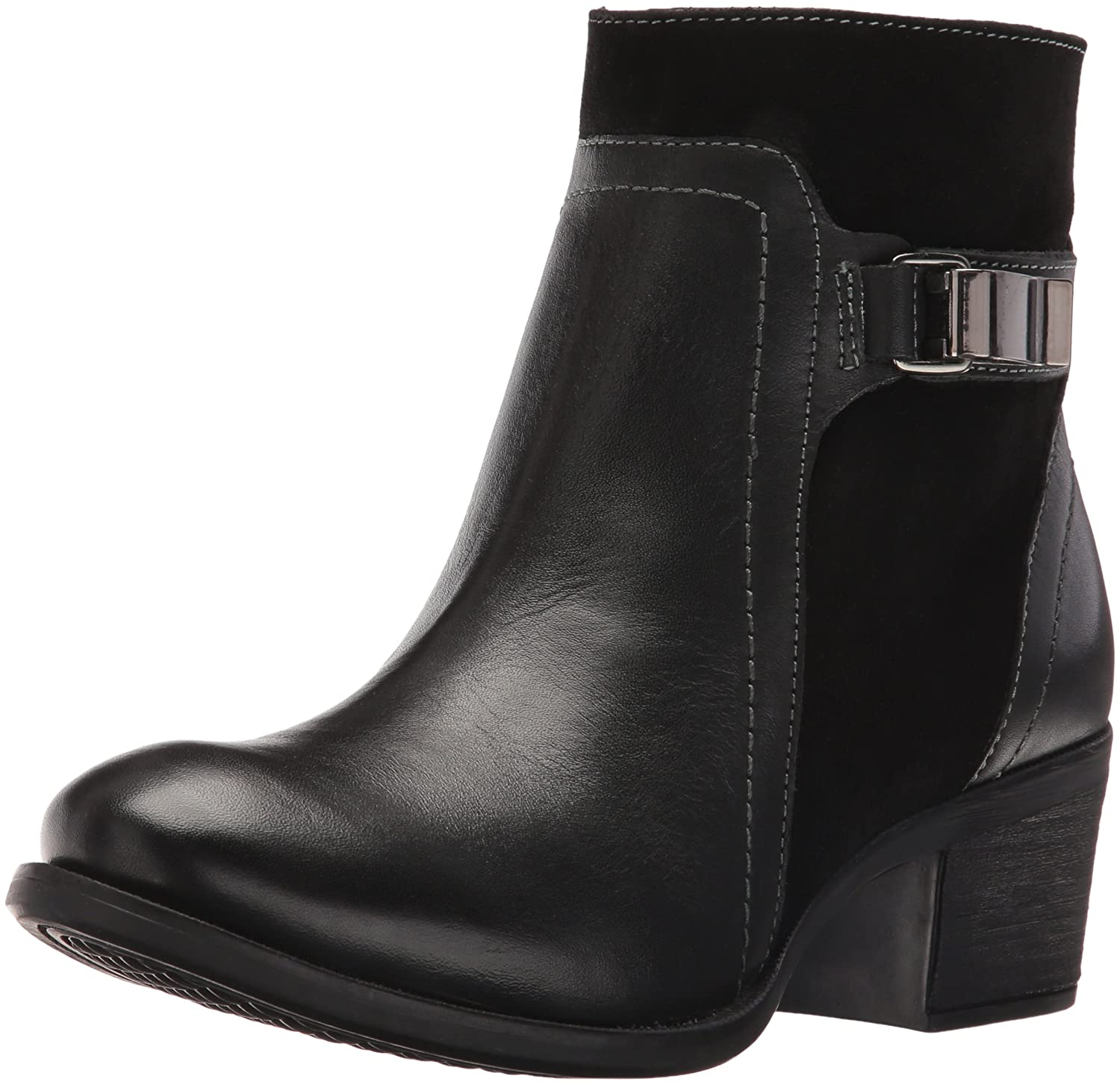 Hush Puppies Women's Fondly Nellie Western Boot B019X7QO28 6 B(M) US|Black Leather/Suede