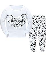 Hugbug Toddler Girls Funny Leopard Pajama Set 2-7T