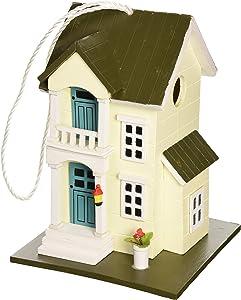 Home Bazaar HB-6003S Main Street Cottage Birdhouse – Yellow