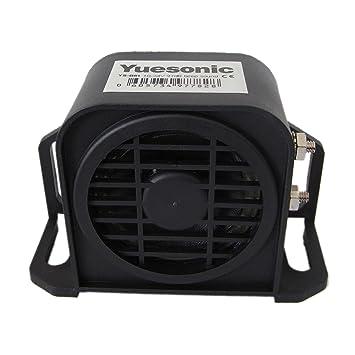 Yuesonic 97dB impermeable pitido sonido copia de seguridad alarma alarma de marcha atrás para vehículos de 12/24 V