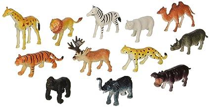 Amazon Com Rhode Island Novelty 12 Little Zoo Animals Toy Figure