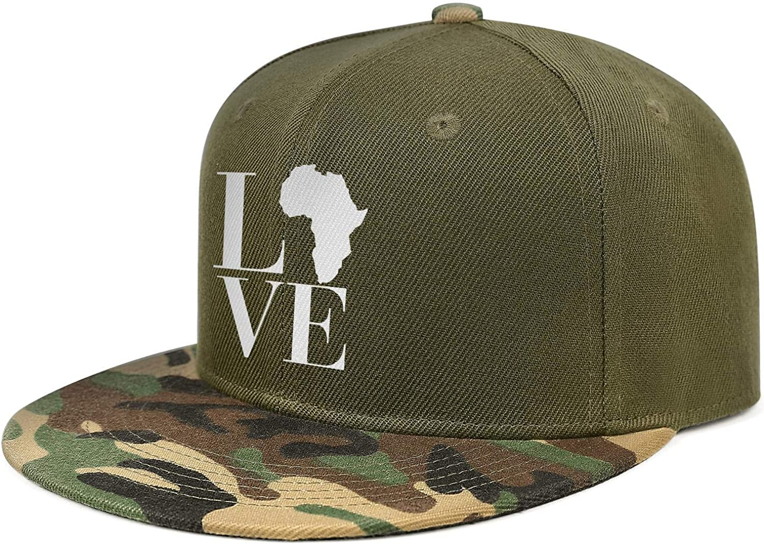 Black History Month Love Africa Continent Unisex Baseball Cap Polyester Running Hats Adjustable Trucker Caps Dad-Hat