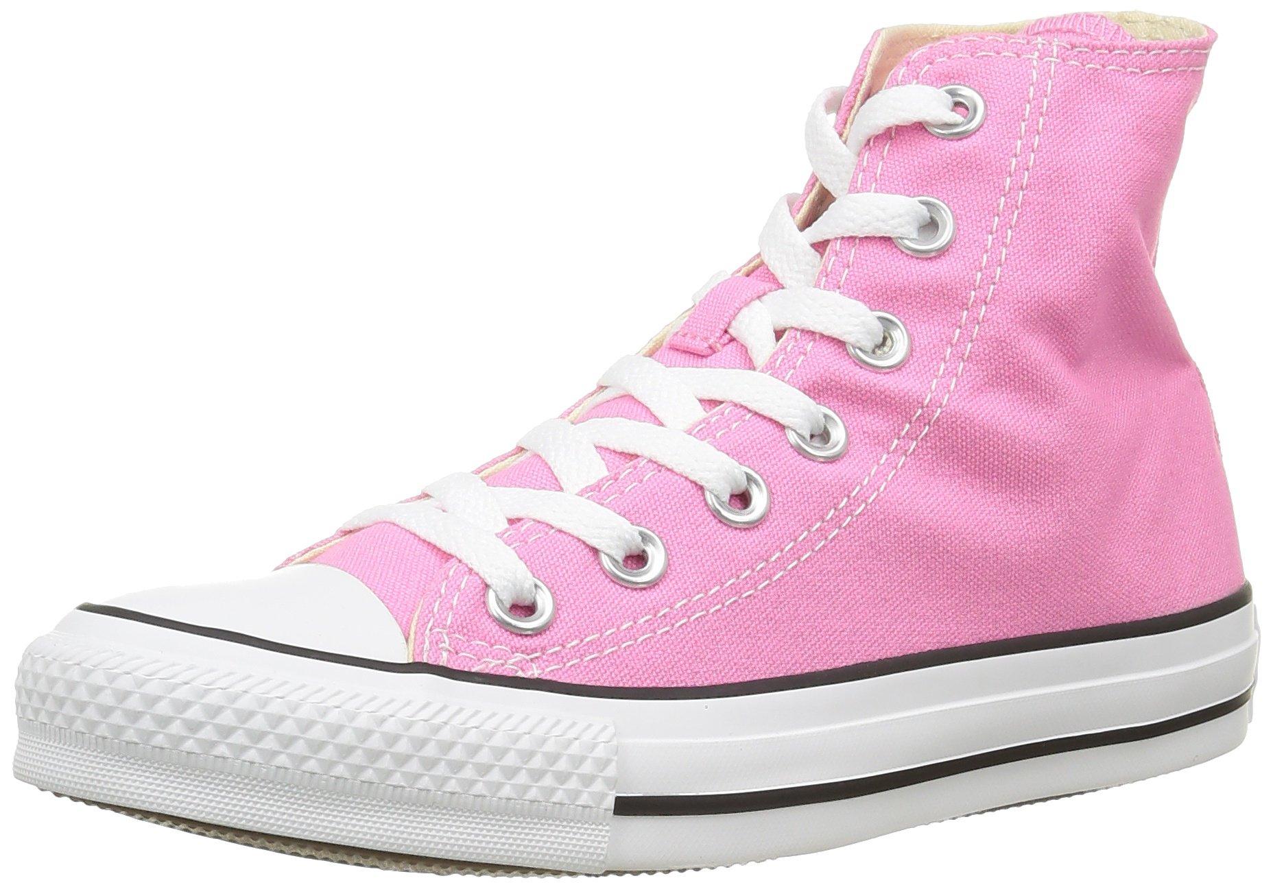 Converse Unisex Chuck Taylor Classic Hi Pink Sneaker - 6 Men - 8 Women by Converse