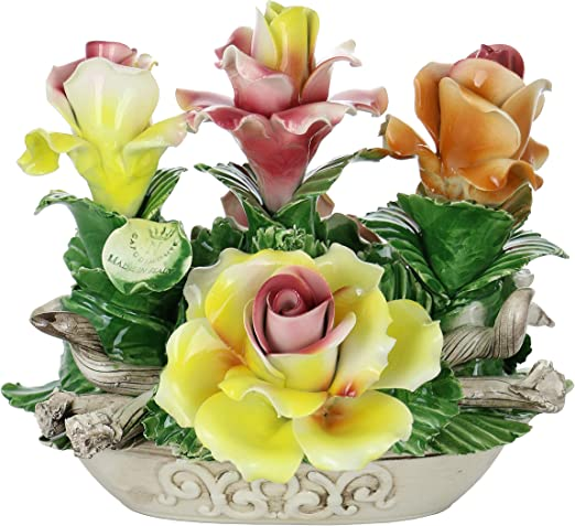 Amazon Com Capodimonte Authentic Handmade Italian Multicolored Oval Floral Basket Centerpiece Home Kitchen,Data Entry Jobs Online From Home Without Investment