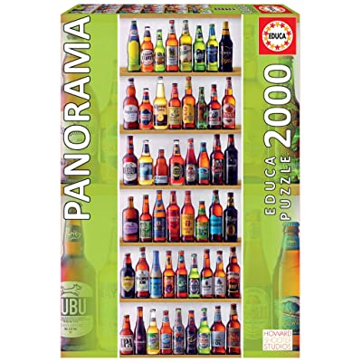 Educa 2000pc Panorama Puzzle World Beers: Toys & Games