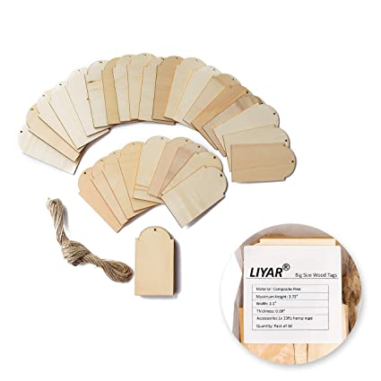 TMO DIY Woodcraft Tags Wood Gift Tags Wooden Blank 3.75u0026quot; x 2.1u0026quot; Unfinished Wooden  sc 1 st  Amazon.com & Amazon.com: TMO DIY Woodcraft Tags Wood Gift Tags Wooden Blank 3.75 ...