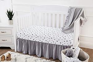 American Baby Company 3 Piece Crib Bedding Set,Alphabet, for Boys and Girls