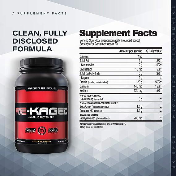 Kaged Muscle Proteína en polvo para la gimnasia - Limonada de fresa - pack de 20
