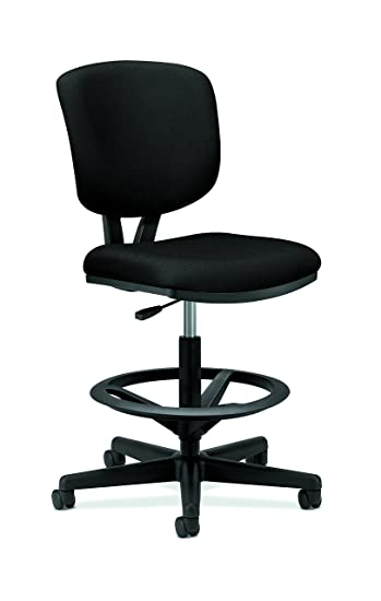 Exceptionnel Amazon.com: HON H5705.GA10.T Volt Task Stool   Upholstered Office Stool,  Black Fabric (H5705): Kitchen U0026 Dining