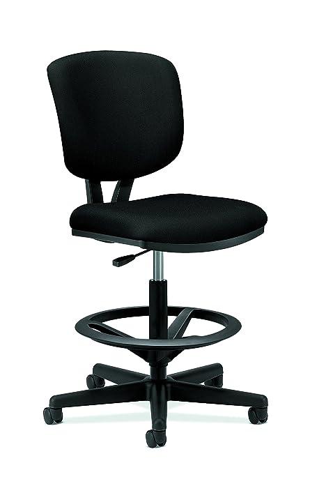 Wonderful HON Volt Task Stool   Upholstered Office Stool, Black (H5705)