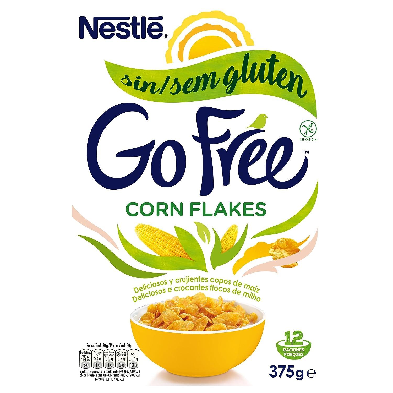 Cereales NESTLÉ Corn Flakes - Copos de maíz tostados - Paquete de cereales de 375g