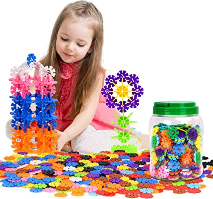 Colorful Zooawa Creative Interlocking Construction Tiles Kit for Kids and Toddlers Over 3 Years Old 500 Pcs Building Blocks