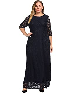 d6d4ddf813d Chicwe Women s Stretch Plus Size Glamour Maxi Dress with Gathering ...