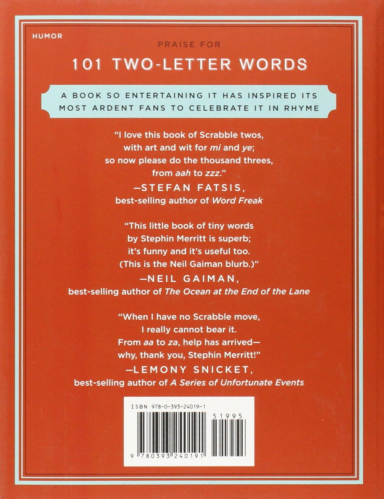 101 Two Letter Words Stephin Merritt Roz Chast 9780393240191