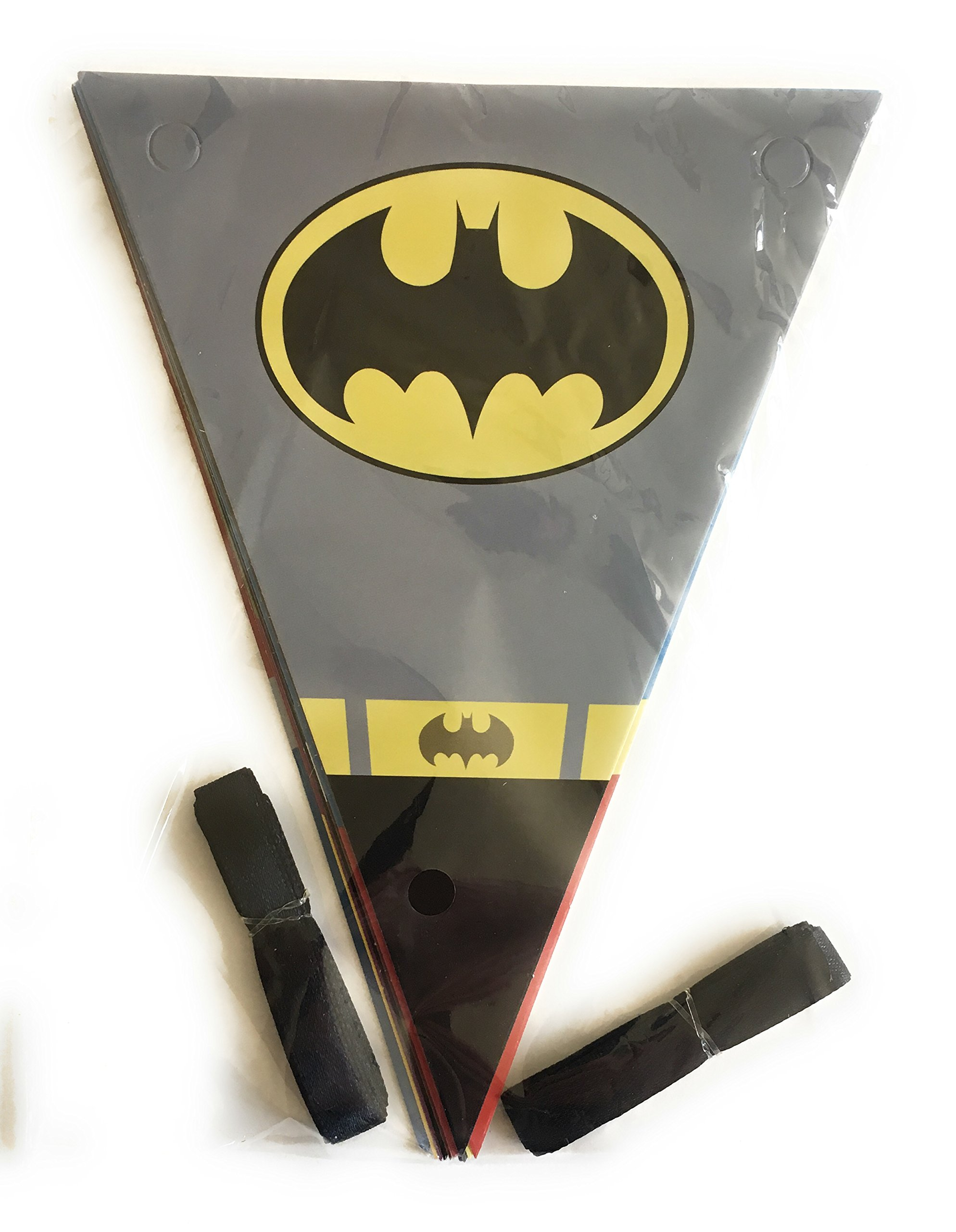 Superhero Avengers and Justice League Set of 12 Party Banners with 2 Strings Included