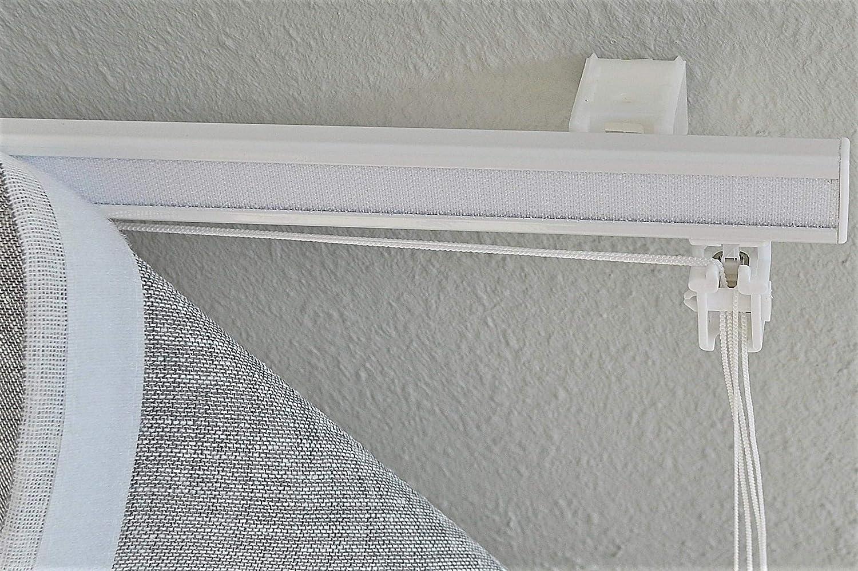 80 x H/öhe ca Kutti Raffrollo Faltrollo Skagen grau halbtransparent Breite ca 140 cm