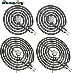 """WB30M1&WB30M2 Surface Element Kit by Beaquicy - Replacement for Kenmore GE - 2 Pack WB30M1 Range 6"""" Surface Burner Element with 2 Pack WB30M2 Range 8"""" Surface Burner Element (240V)"""