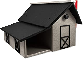 product image for DutchCrafters Eco Friendly Poly Mailbox with Paper Box (Light Gray & Black)