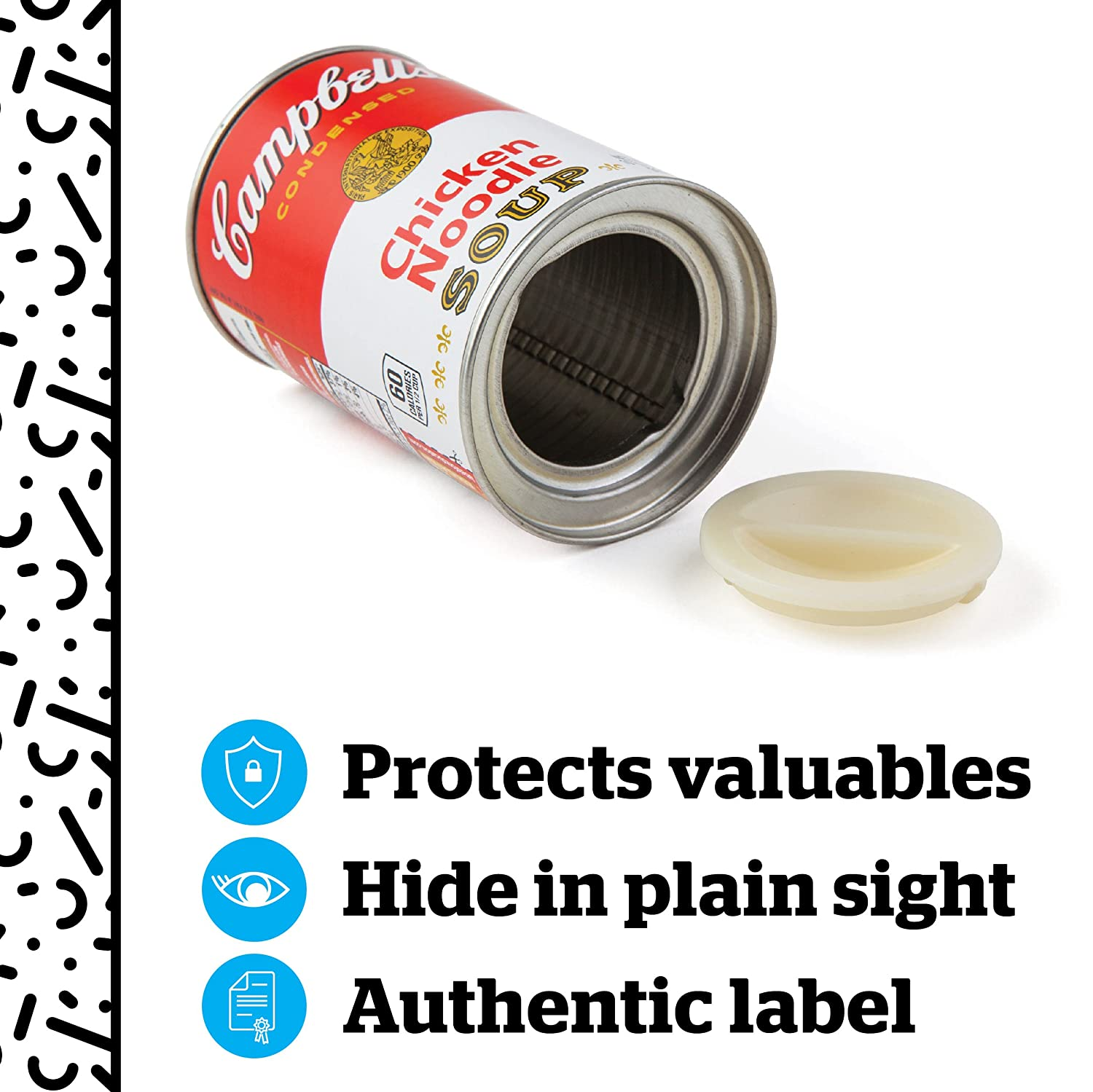 3 x 3 x 4.5 BigMouth Inc SPAM Can Safe /— Great Hiding Place for Storing Valuables