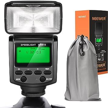 Neewer NW610 Flash Manual Speedlite con Pantalla LCD para Canon Nikon Panasonic Olympus Pentax con Zapata