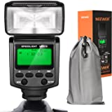Neewer NW610 Manual Flash Speedlite With LCD Display for Canon Nikon Panasonic Olympus Pentax with Standard Hot Shoe and Sony Camera with New Mi Hot Shoe like Sony A7 A7S/A7SII A7II A6000 A6300 A6500