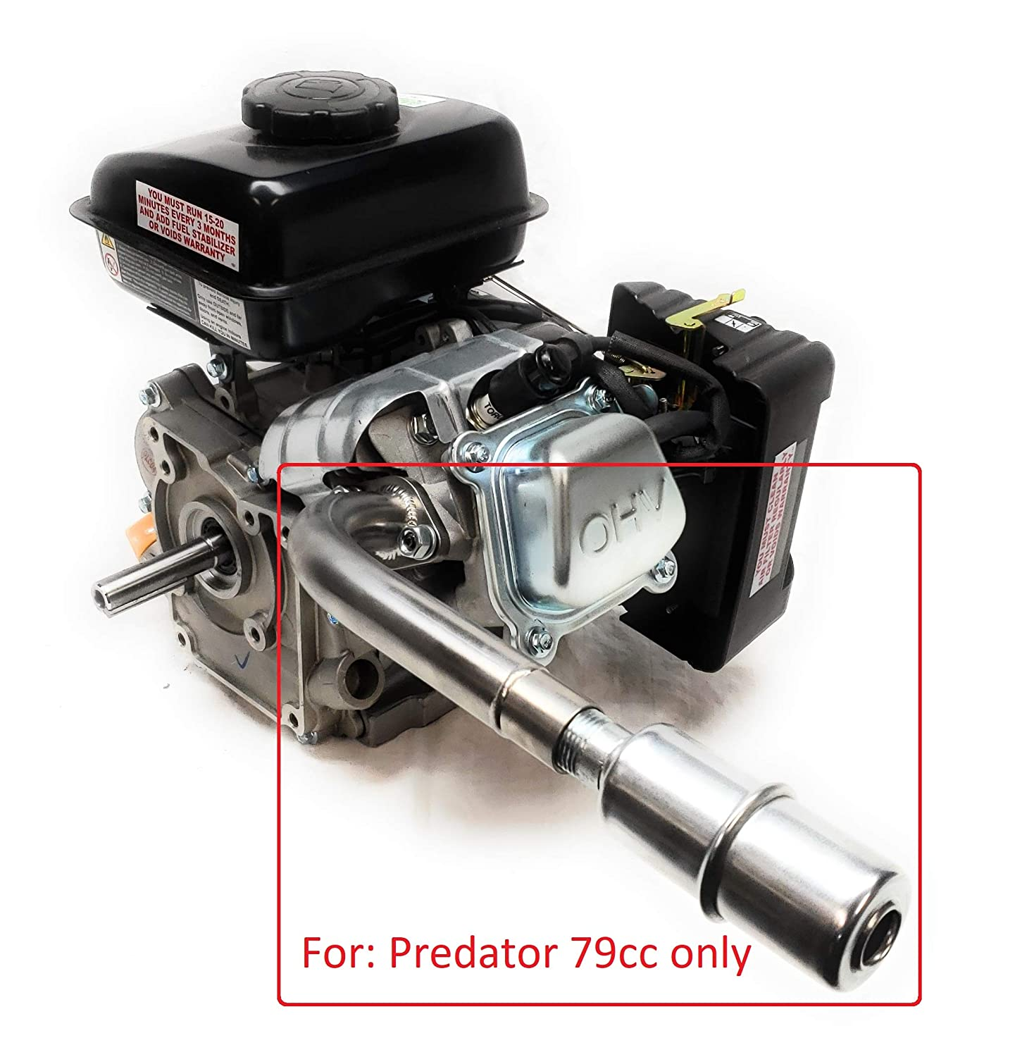 Mini Bike. Predator 3HP 79cc from Harbor Freight Tool ARSPORT Exhaust with Muffler for