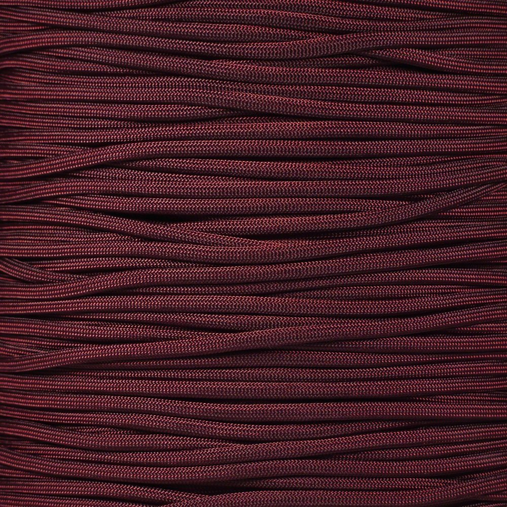 SGT KNOTS Paracord 550 Type III 7 Strand - 100% Nylon Core and Shell 550 lb Tensile Strength Utility Parachute Cord for Crafting, Tie-Downs, Camping, Handle Wraps (Burgandy - 25 ft)