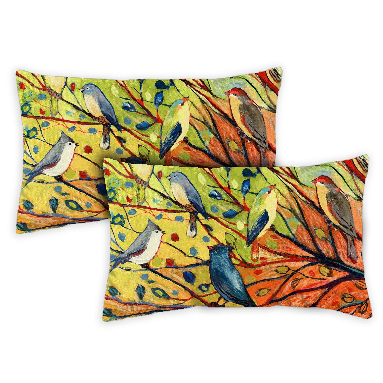 Toland Home Garden 731217 Tree Birds 2-Pack 12x 19 Inch, Indoor/Outdoor Pillow with Insert