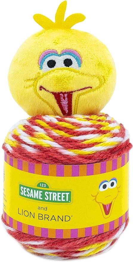 Lion Brand Yarn Sesame Street One Hat Wonder yarn Size Big Bird
