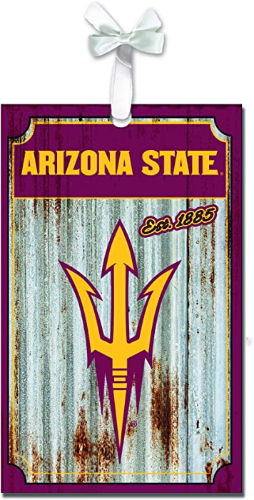 Team Sports America Arizona State Sun Devils Corrugated Metal Ornament