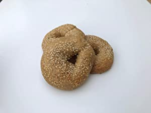 Low Carb NY Style Sesame Seed Bagels (3 Bagels) - Fresh Baked - LC Foods - All Natural - No Sugar - High Protein - Diabetic Friendly - Low Carb Bagels